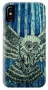 Black Owl On Blue Night IPhone Case