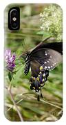 Black Swallowtail Butterfly IPhone Case