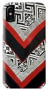 Black Thai Fabric 01 IPhone Case