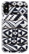 Black Thai Fabric 02 IPhone Case