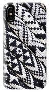Black Thai Fabric 03 IPhone Case