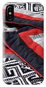 Black Thai Fabric 04 IPhone Case