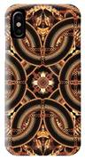 Black Walnut Interlock IPhone Case