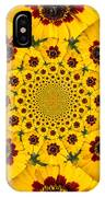 Blackeyed Susan Kaleidoscope IPhone Case