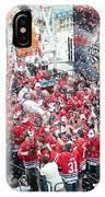 Blackhawks Celebration Stage IPhone Case