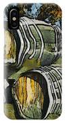Blackjack Winery Wine Barrels IPhone Case