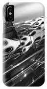 Blazing A Trail - Ford Model A 1929 In Black And White IPhone Case