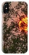 Blazing Sun Hiding Behind A Tree IPhone Case