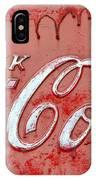 Bleeding Coke Red IPhone Case