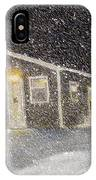 Blizzard At The Cabin IPhone Case