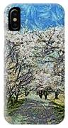 Blooming Cherry Tree Avenue IPhone Case
