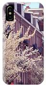 Blooming Decoration Of The Streets. Pink Spring In Amsterdam IPhone Case