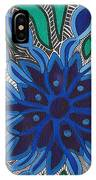 Blooming In Blue IPhone Case