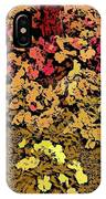 Blossoms And Tree In Yellow And Red IPhone Case