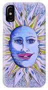 Blu Glitter Sun IPhone Case