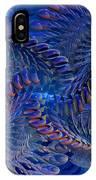 Blue 3 IPhone Case