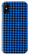 Blue And Black Checkered Pattern Cloth Background IPhone Case