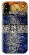 Blue And Gold Stained Abstract IPhone Case