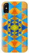 Blue And Gold Yantra Meditation Mandala IPhone Case