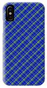 Blue And Green Diagonal Plaid Pattern Cloth Background IPhone Case