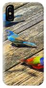 Blue And Indigo Buntings - Three Little Buntings IPhone Case