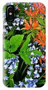 Blue And Red Flowers In Kuekenhof Flower Park-netherlands IPhone Case