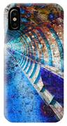Blue And Rust Grunge Tunnel IPhone Case