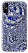 Blue And Silver 1 IPhone Case