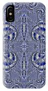 Blue And Silver 2 IPhone Case