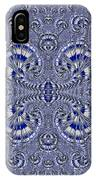 Blue And Silver 3 IPhone Case