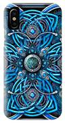 Blue And Silver Celtic Cross IPhone X Case