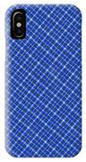 Blue And White Diagonal Plaid Pattern Cloth Background IPhone Case
