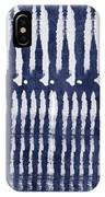 Blue And White Shibori Design IPhone Case by Linda Woods