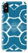 Blue And White Wave Tile- Abstract Art IPhone Case