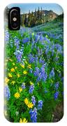 Blue And Yellow Hillside IPhone Case
