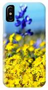 Blue And Yellow Wildflowers IPhone Case
