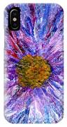 Blue Aster Miniature Painting IPhone Case
