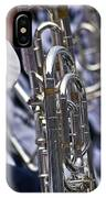 Blue Band Brass IPhone Case