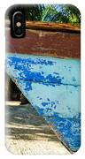 Blue Beached Canoe IPhone Case