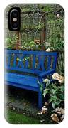 Blue Bench With Roses IPhone Case
