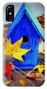 Blue Bird House IPhone Case