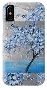 Blue Blossom Tree IPhone Case