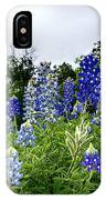 Blue Bonnet Carpet V9 IPhone Case