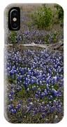 Blue Bonnet Fence V2 IPhone Case