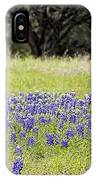 Blue Bonnets Fire Hydrant V2 IPhone Case