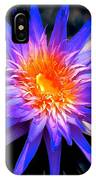 Blue Burst Lily IPhone Case