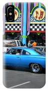 Blue Car With Colorful Background IPhone Case