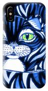 Blue Cat Green Eyes IPhone Case