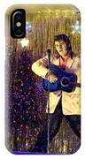 Blue Christmas Without Elvis IPhone Case