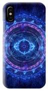Blue Circle Fractal IPhone Case